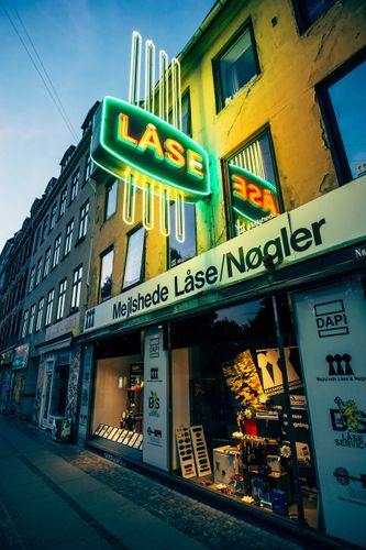 Neon lights in Copenhagen, Denmark