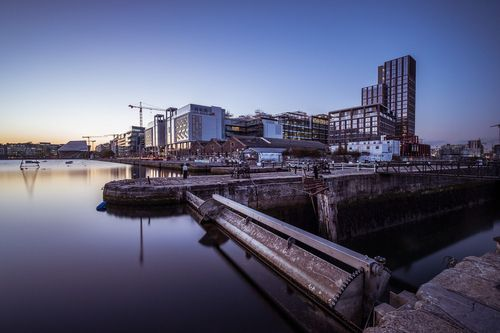 Sunset in Grand Canal Dock, Dublin