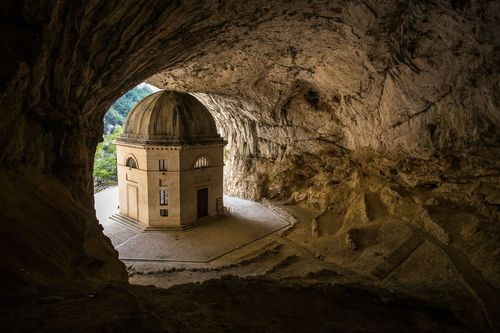 Temple of Valadier, Genga, Italy